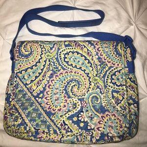 Vera Bradley Messenger Bag - Capri Blue HUGE BAG!